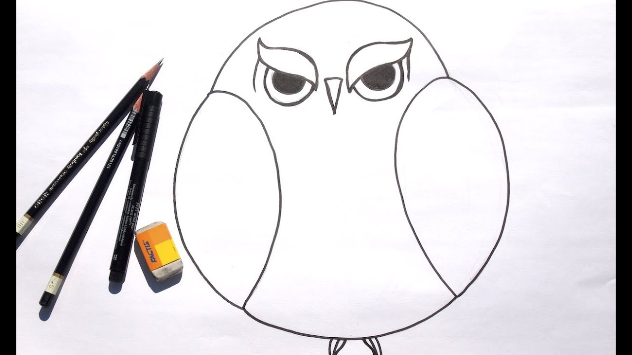graphic royalty free library Learn to draw grumpy. Drawing owls beginner