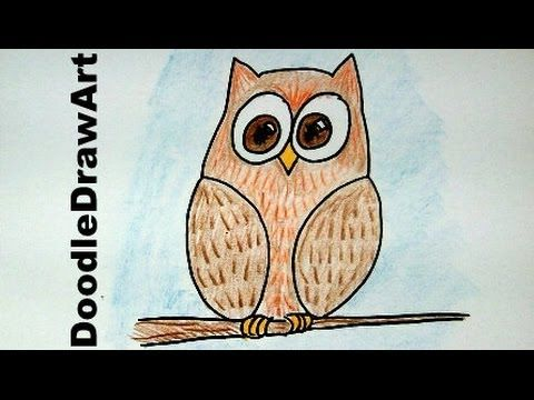 clip art Drawing owls beginner.  how to draw