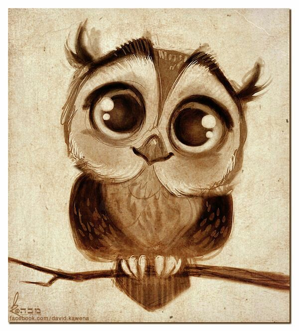 image freeuse library Owl artsy fartsy cartoon. Drawing owls cute baby