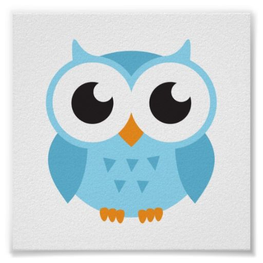 png transparent download Blue baby owl poster. Drawing owls cute cartoon