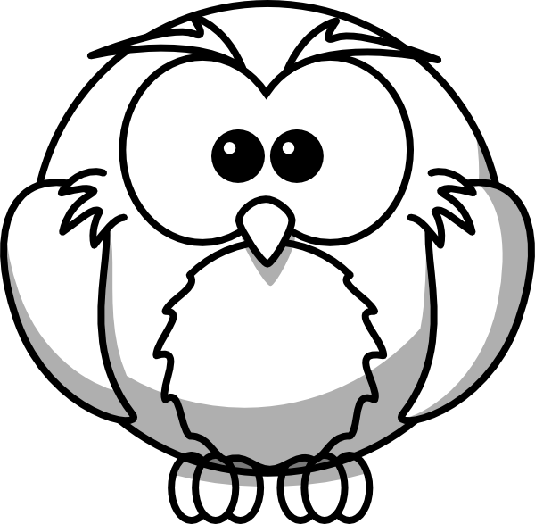 clip art library library Drawing owls easy. Drawings of owl outline