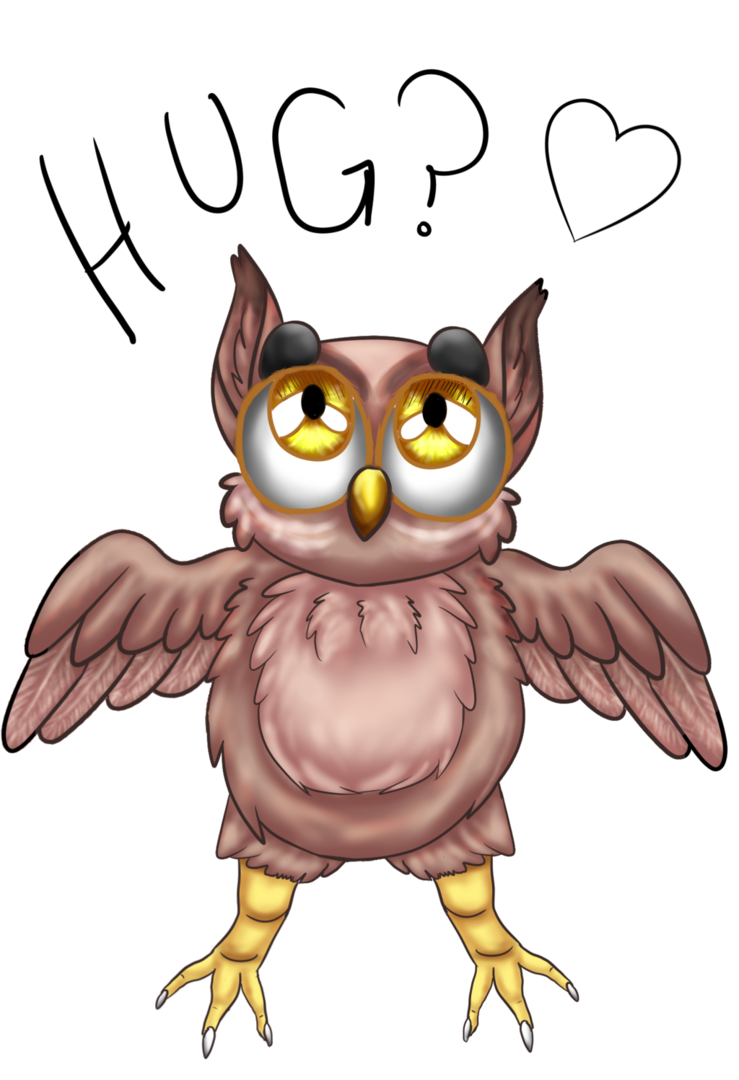 picture stock Drawing owls hugging. Cute owl by goldfishhhy
