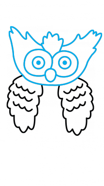vector Drawing owls step by. How to draw an