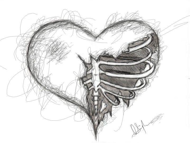 vector royalty free download Heart broken art creative. Drawing pain artistic