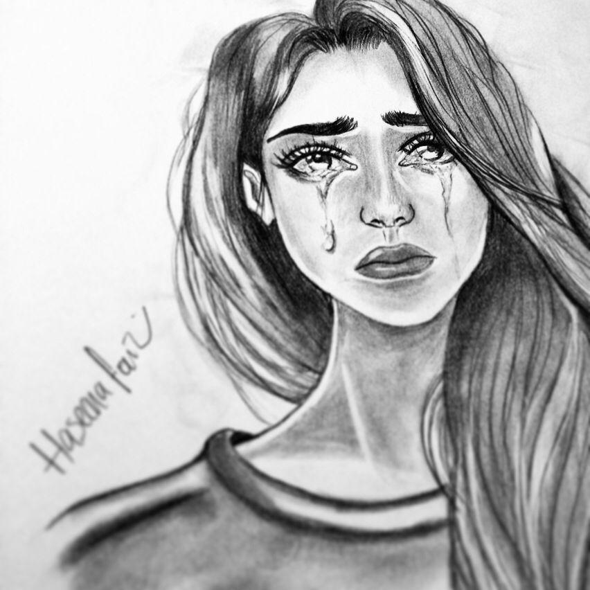 banner freeuse Drawing pain broken girl. Pin on haseena faiz
