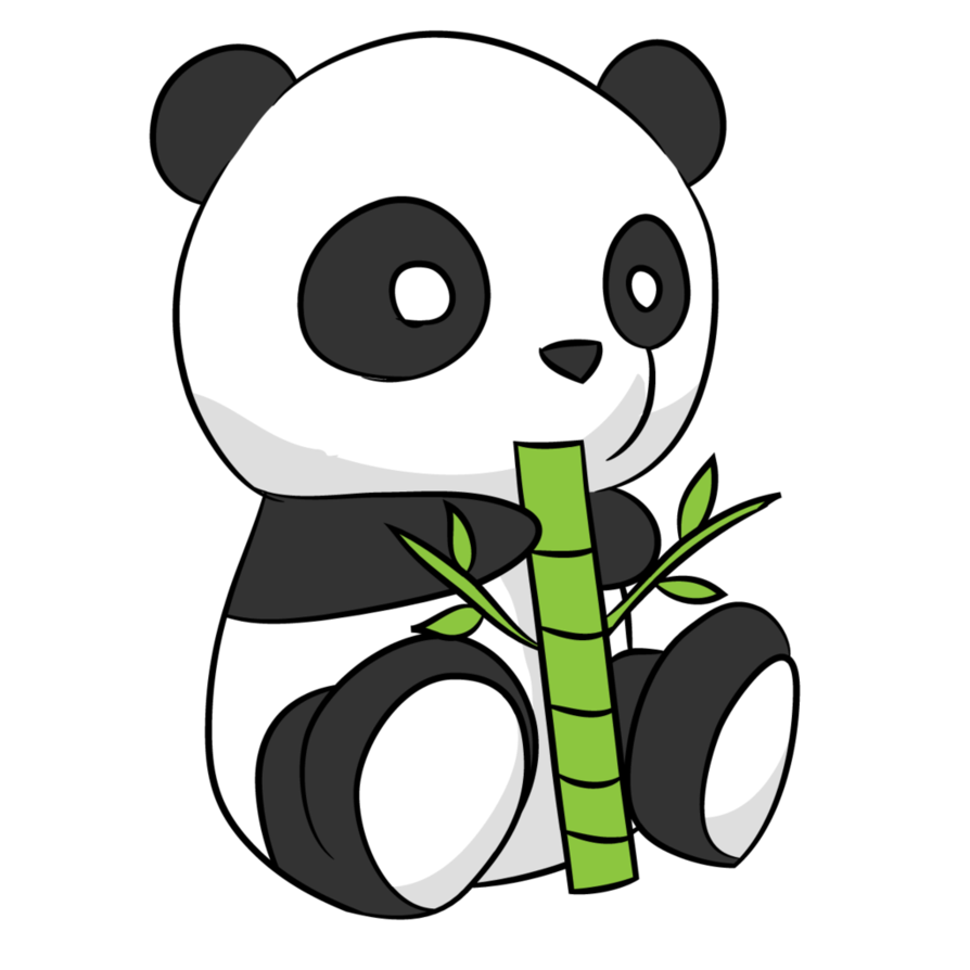 vector transparent library Cute panda drawing by arycarys on DeviantArt