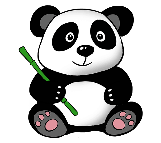 png free How to Draw a cute Cartoon Panda in a Few Easy Steps