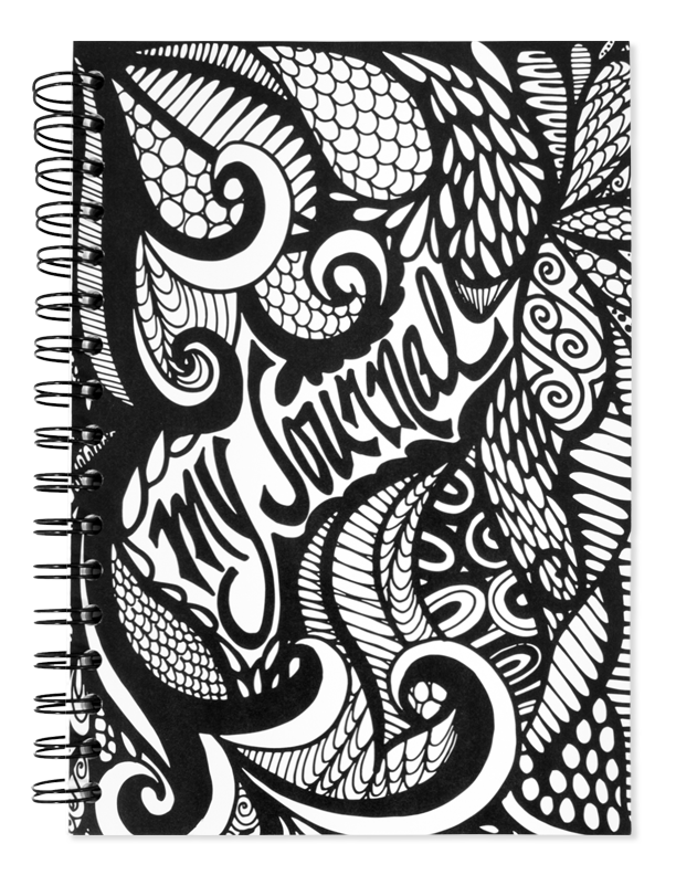 image royalty free download Drawing random notebook. My journal black and