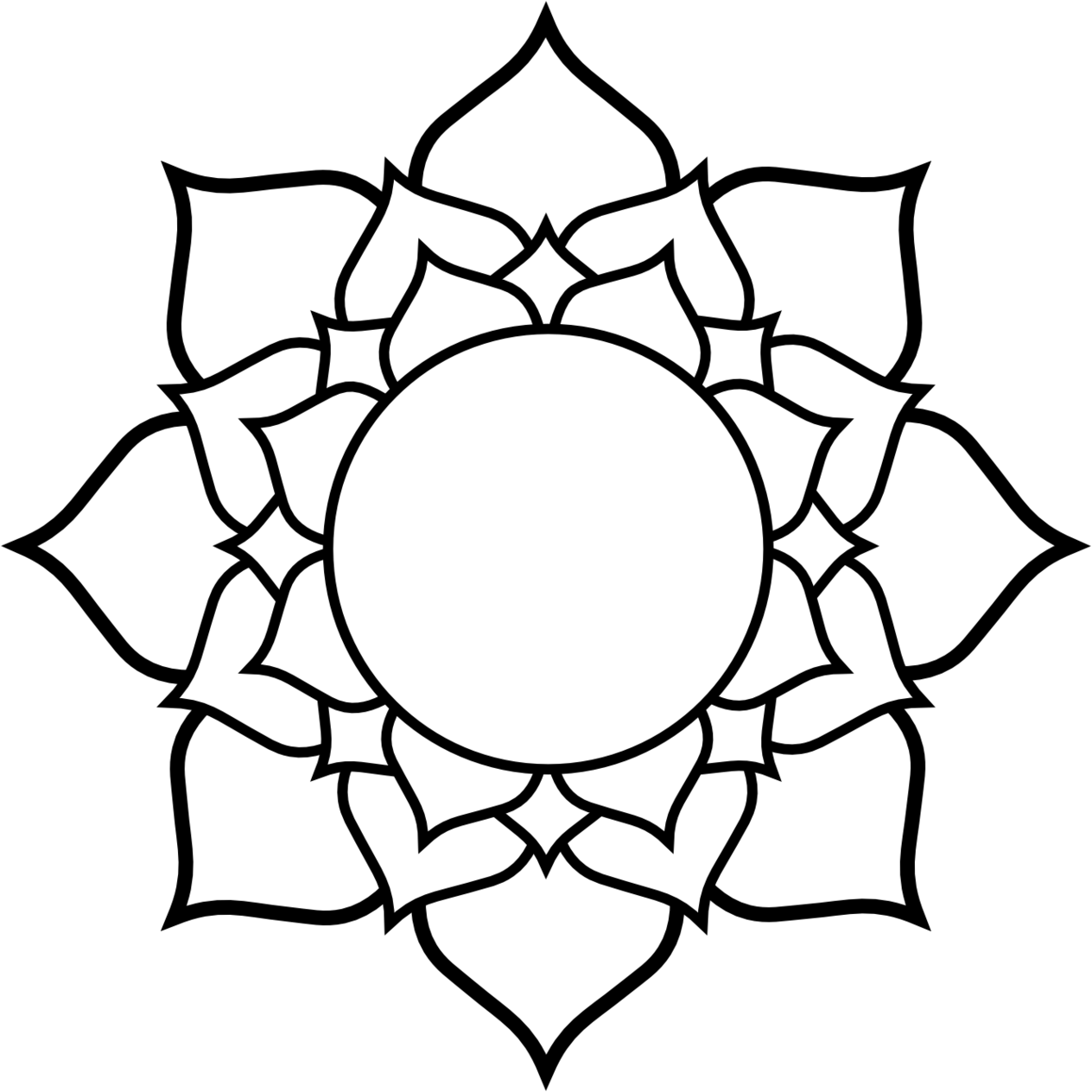 picture royalty free download Simple Lotus Drawing at GetDrawings