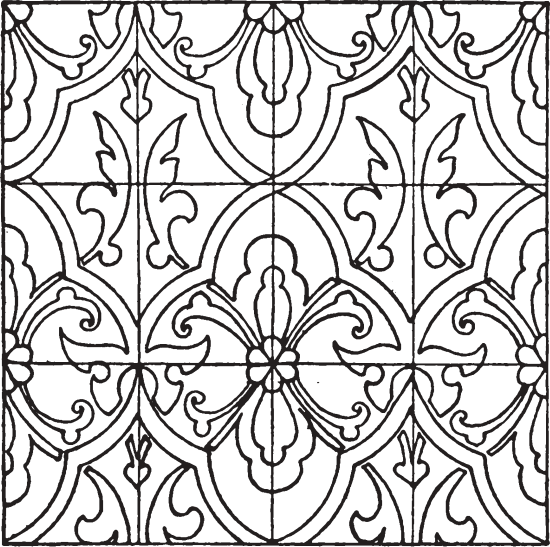 graphic library library Renaissance Enamel Pattern
