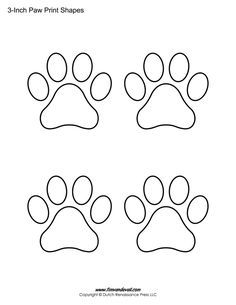 svg transparent stock Printable paw print templates for all your animal