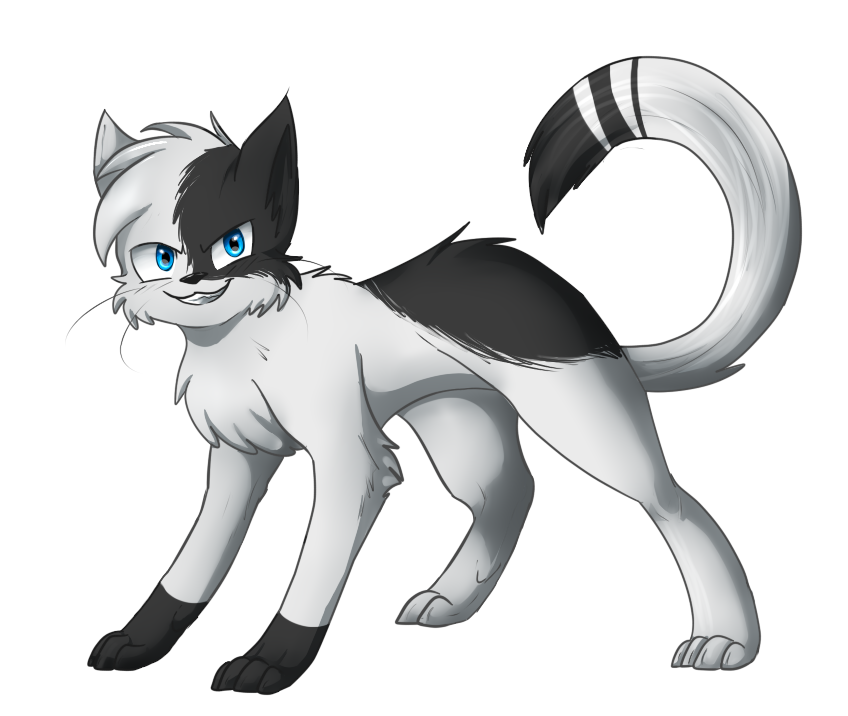 clip freeuse stock drawing paws warrior cat #95374158
