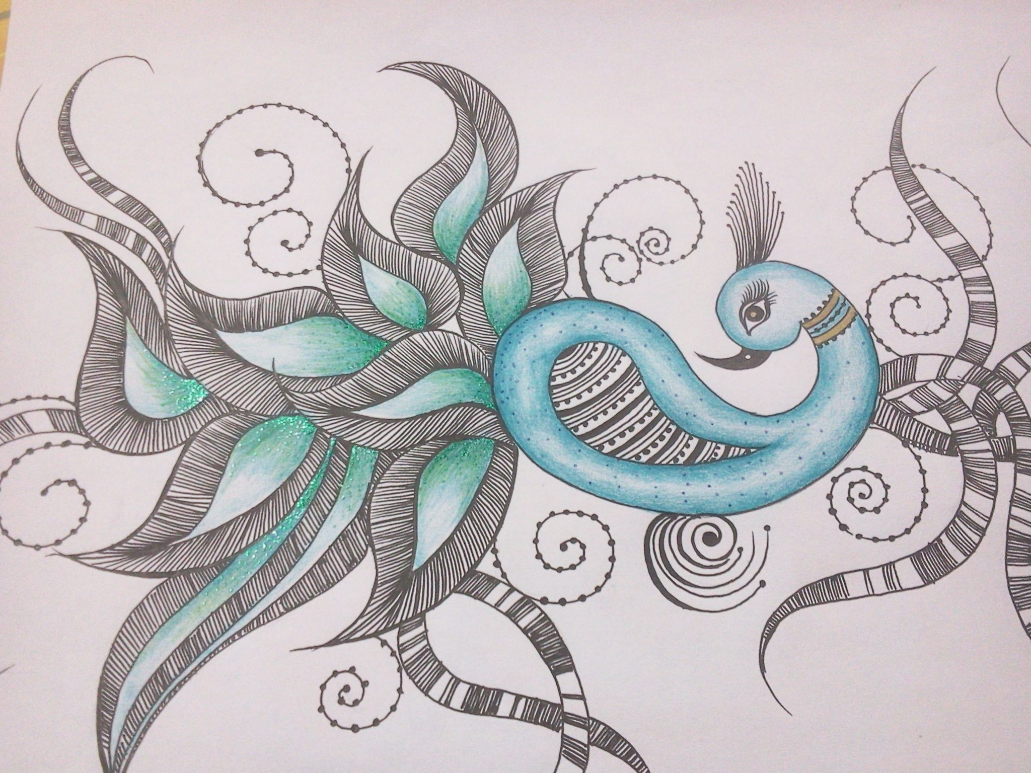 picture stock Peacock oh yes i. Drawing peacocks abstract