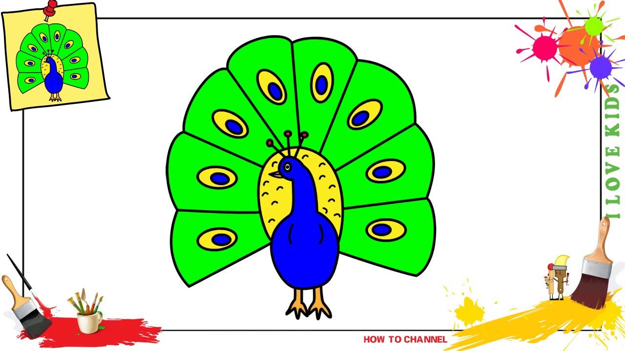 png library library Drawing peacocks basic. How to draw a