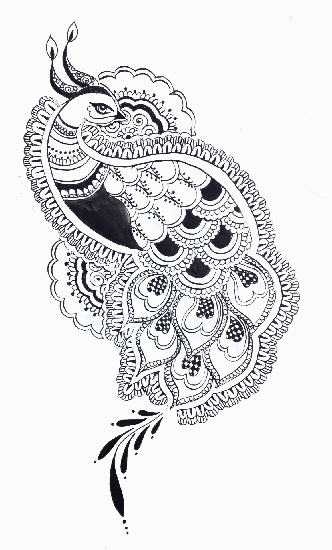 banner free Drawing peacocks black and white. Peacock design google search