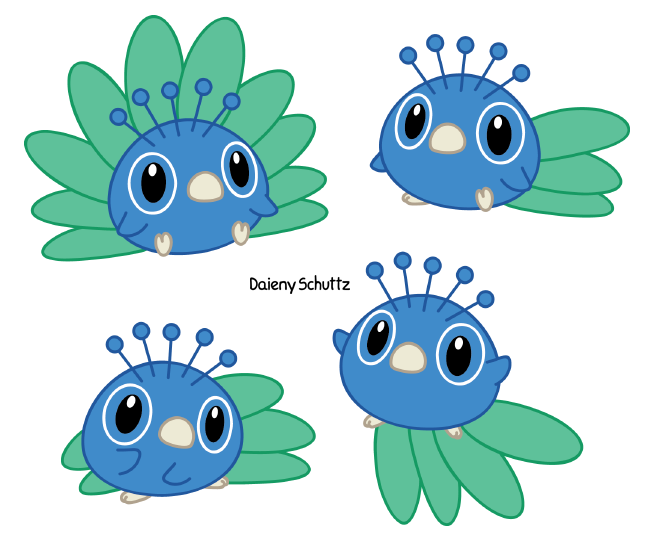 vector royalty free download Little peacock by daieny. Drawing peacocks chibi