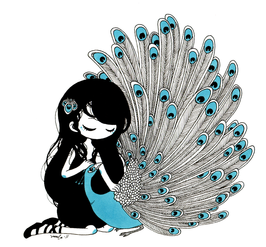 jpg black and white stock Peacock by valerei on. Drawing peacocks cute