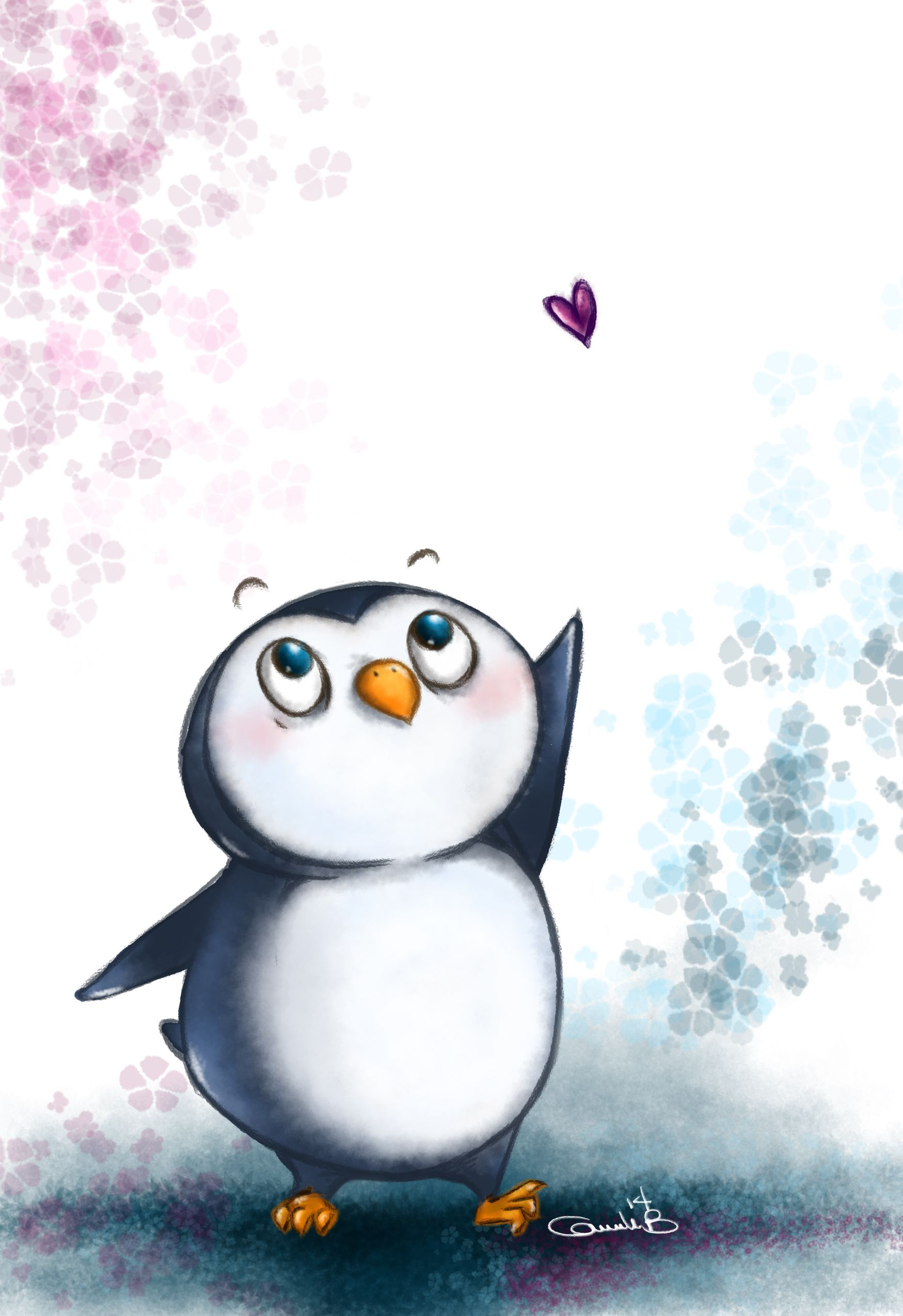png stock Drawing penguin cute animal. D tattoo penguins
