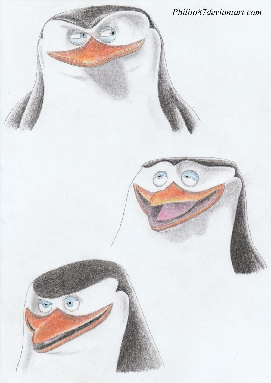 clip art transparent download Skipper faces by philito. Drawing penguin epic