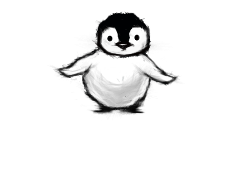 vector black and white stock Drawing penguin fluffy. Comment on forum draw