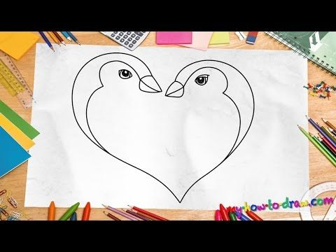 clipart freeuse Drawing penguin heart. How to draw a