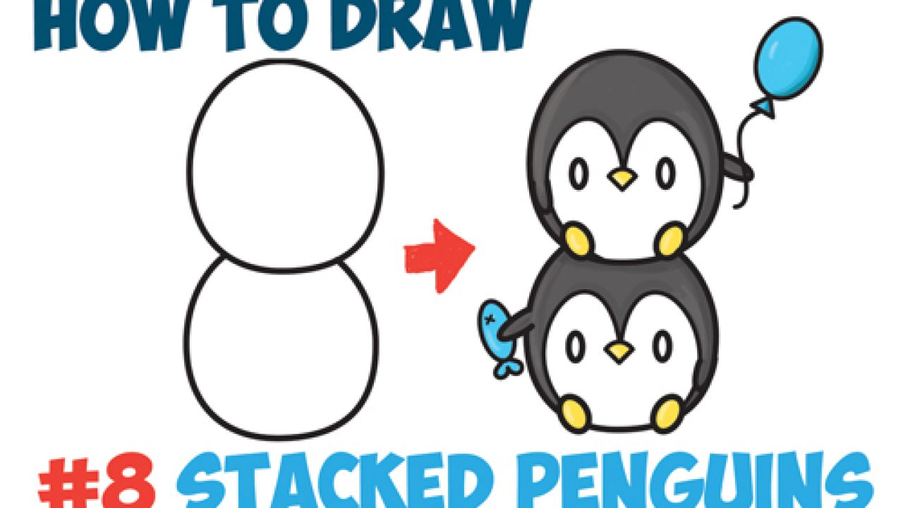picture library library How to draw cute. Drawing penguin kawaii