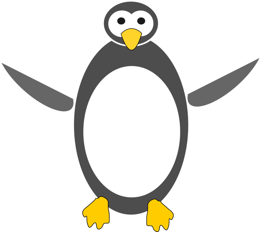 library Cartoon tux free commercial. Drawing penguin little