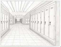 clip library Drawing perspectives hallway. One point perspective google