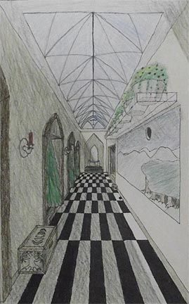 clipart royalty free Pin on one point. Drawing perspectives hallway