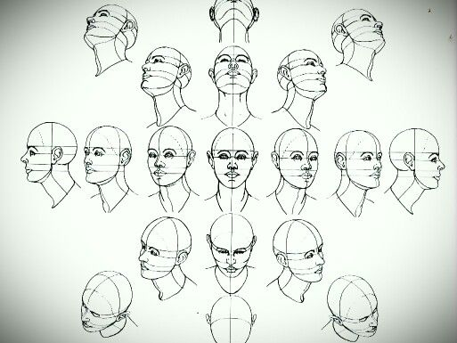clipart black and white library Face tutorials in drawings. Drawing perspectives human