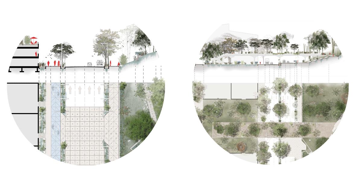 free stock Drawing perspectives landscape. Ccv secciones de via