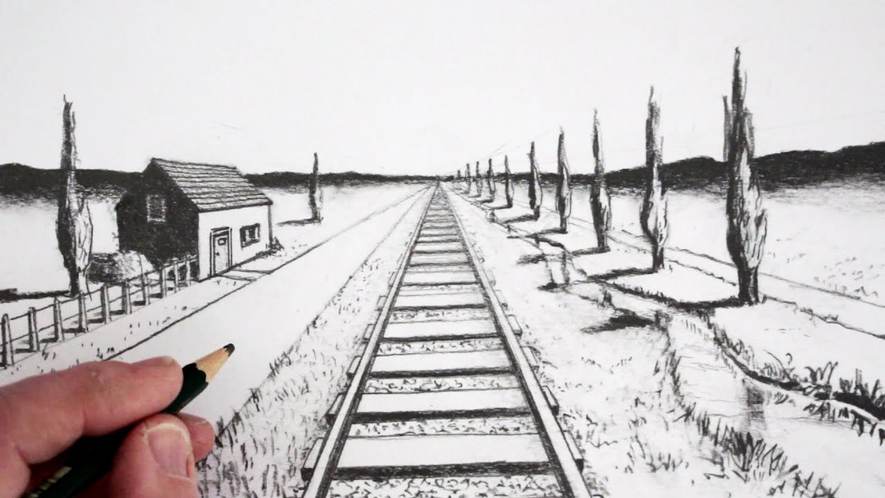 banner free library Drawing perspectives pencil. How to draw using