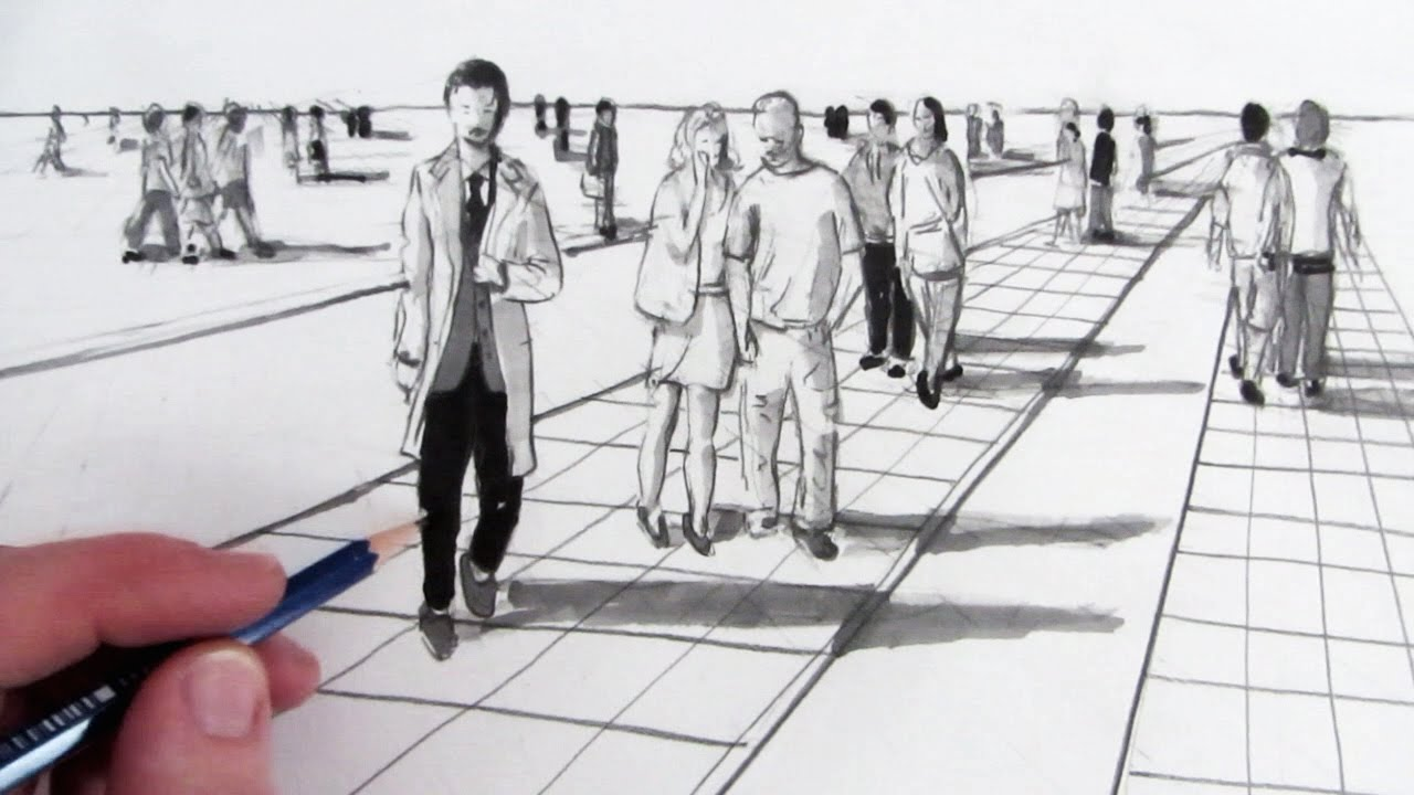 image free How to draw people. Drawing perspectives person