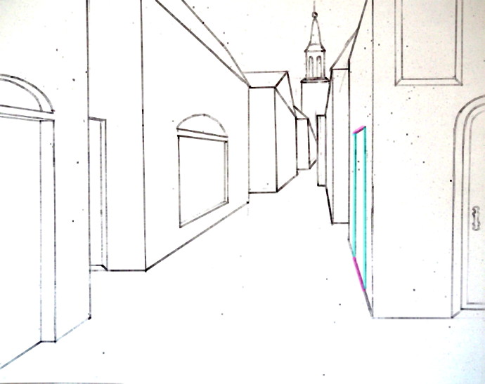 jpg transparent stock Drawing perspectives street. Single point perspective of