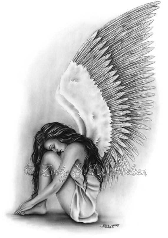png royalty free Wings heaven girl art. Drawing photography angel