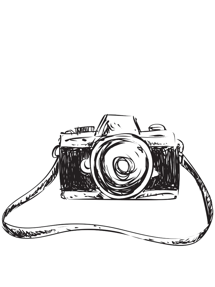 clip art Camera sketch pull away. Drawing photography creative