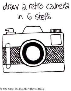 clipart free library Tags camera embroidery doodle. Drawing photography easy