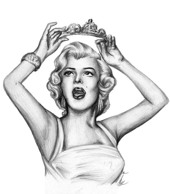 clipart black and white library Drawing photography pencil. Marilyn monroe sketch transprent
