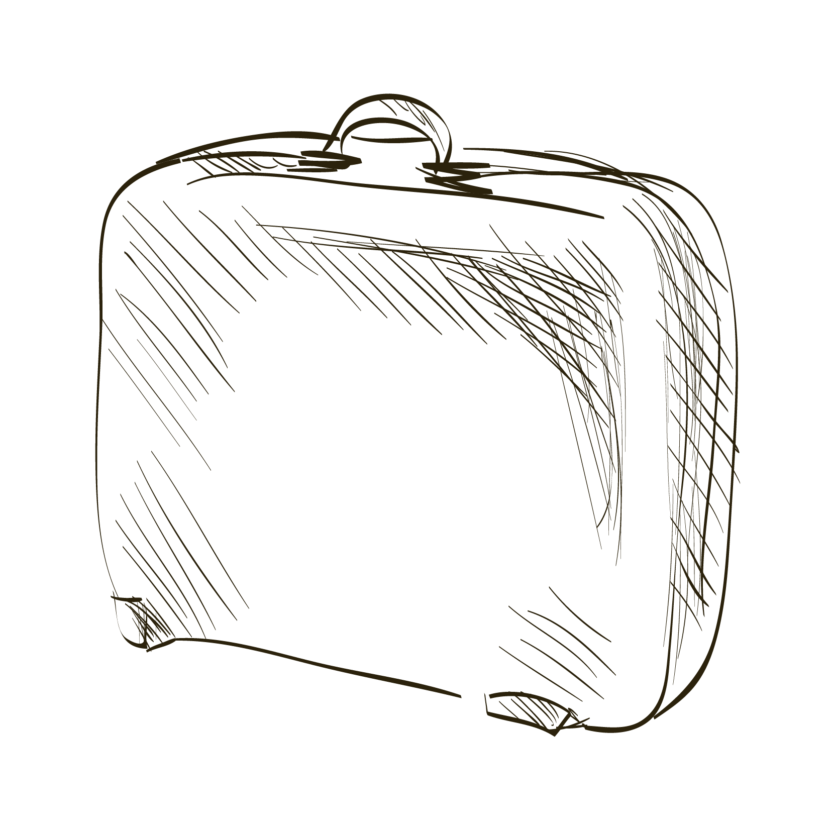 clip art free stock Drawing photography simple. Paper suitcase black luggage