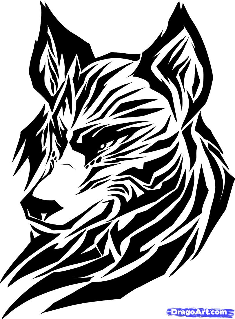 clip library library Drawing photography tribal. Gray wolf tribe png