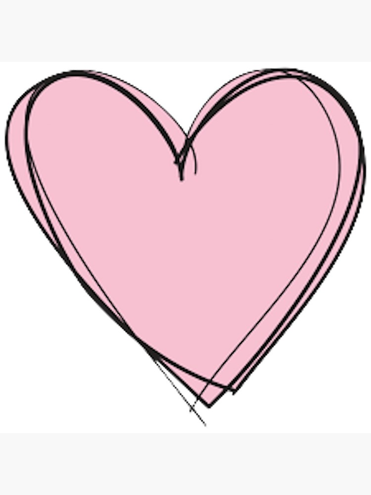 download Drawing pic heart. Pink poster