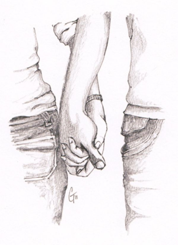 clip free  couple pencil sketches. Drawing pic romantic