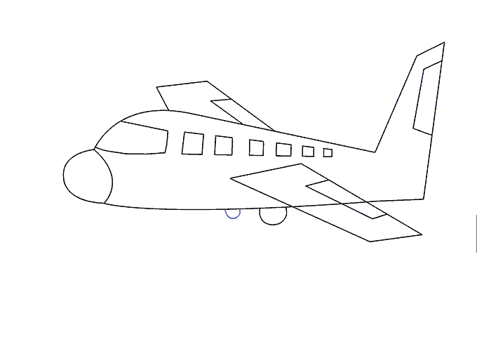 vector library library Aeroplane drawing. How to draw an