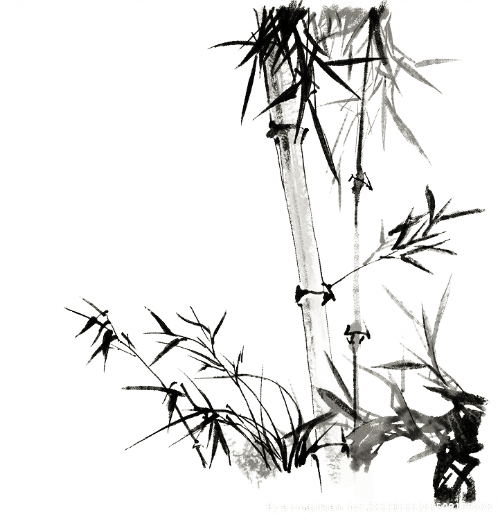 jpg black and white library Ink wash painting Bamboo Chinese painting Chinoiserie Bird