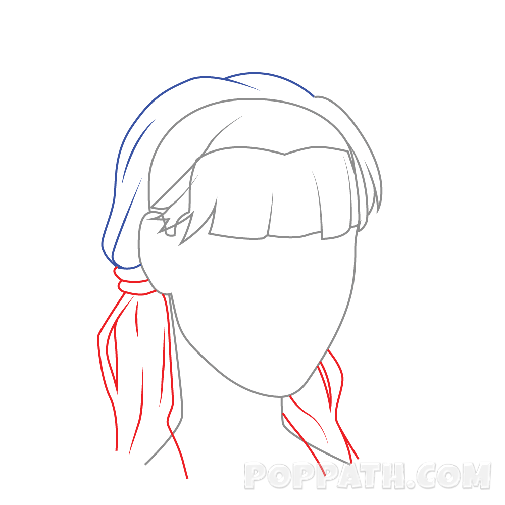 clip art library download How to draw female. Drawing ponytails