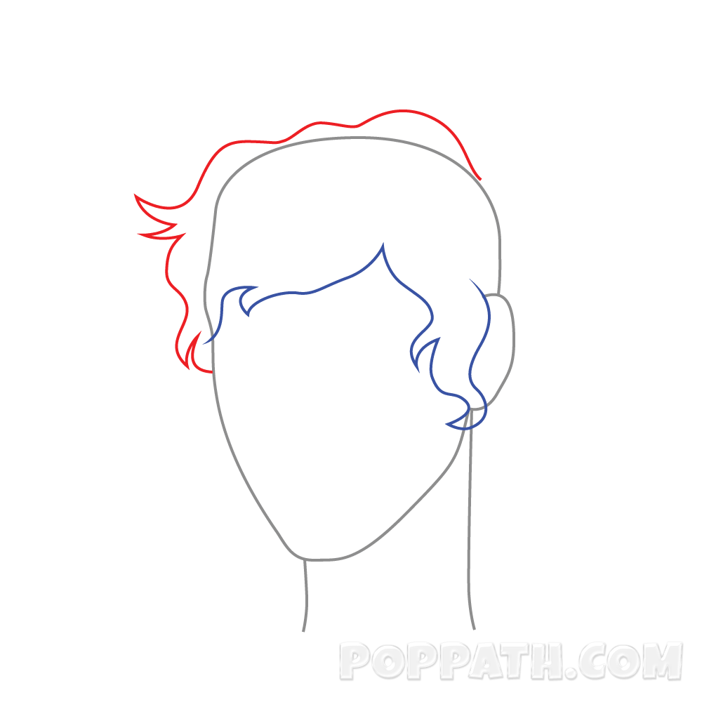picture free library How to draw male. Drawing ponytails