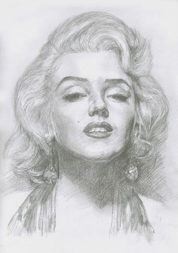image Drawing portrait black and white. John chen gallery