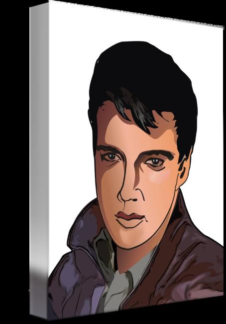 image free library Avatar of elvis presley. Drawing portrait cartoon