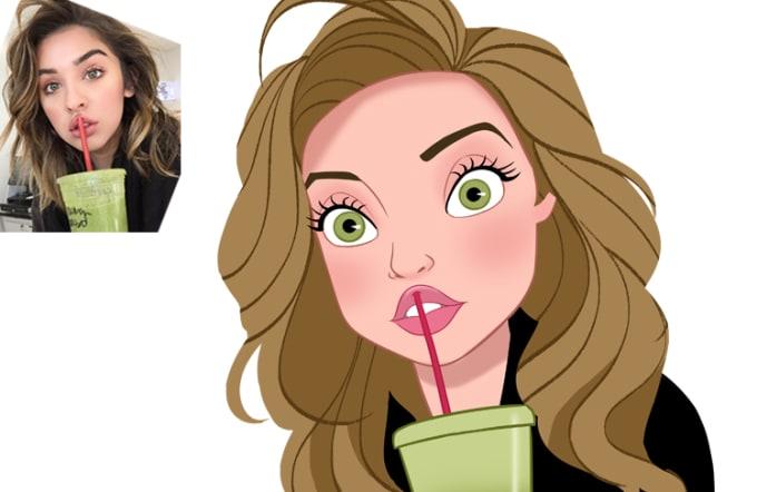 jpg stock Draw your in disney. Drawing portrait cartoon