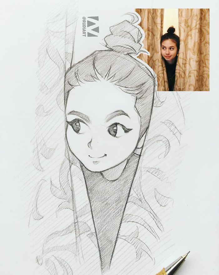 picture black and white Drawing portrait cartoon. Sketch at paintingvalley com